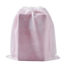 Venta al por mayor, Logo personalizado, decoración de boda, bolsa de regalo de Navidad, 50 unids/lote, 40x50 cm, paquete grande de pelo blanco, bolsa no tejida