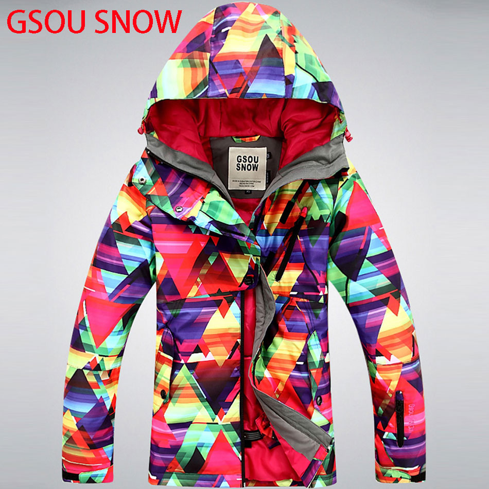 GSOU SNOW ski jacket single and double  Women Snowboarding jacket  winter jackets coat Mountain jacket Snow Clothes brand gsou snow technology fabrics women ski suit snowboarding ski jacket women skiing jacket suit jaquetas feminina girls ski