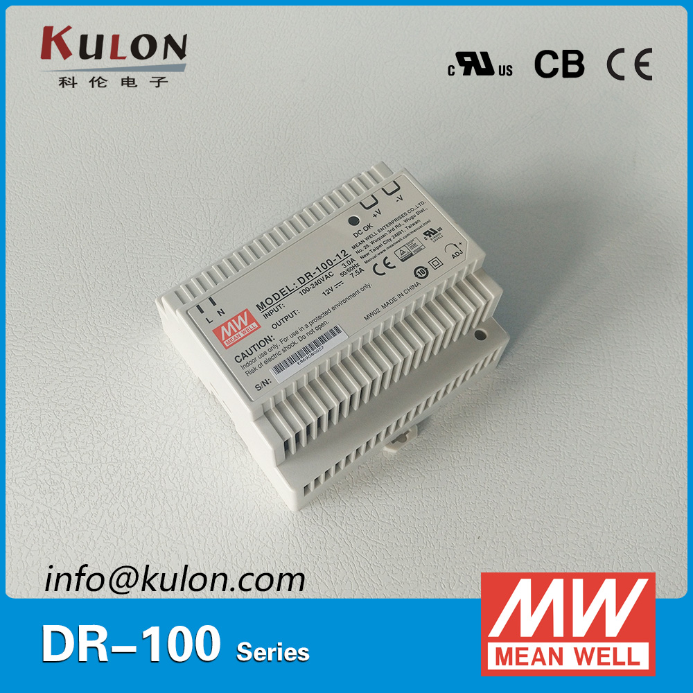 Genuine Meanwell DR-100-12 AC/DC Single Output 100W 12V 7.5A