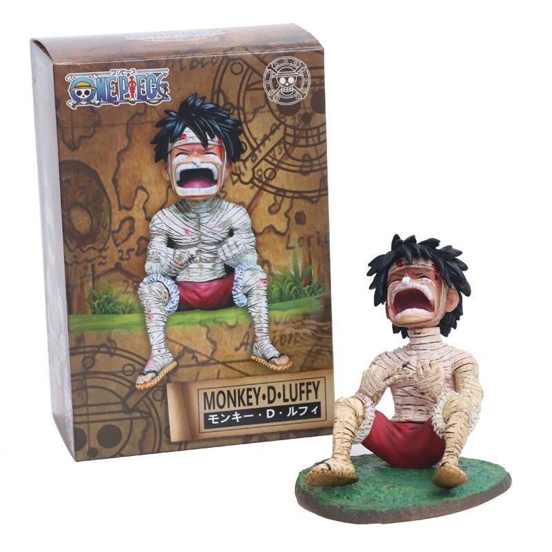 Anime One Piece Bandage Crying Monkey D Luffy Pvc Figure Toy