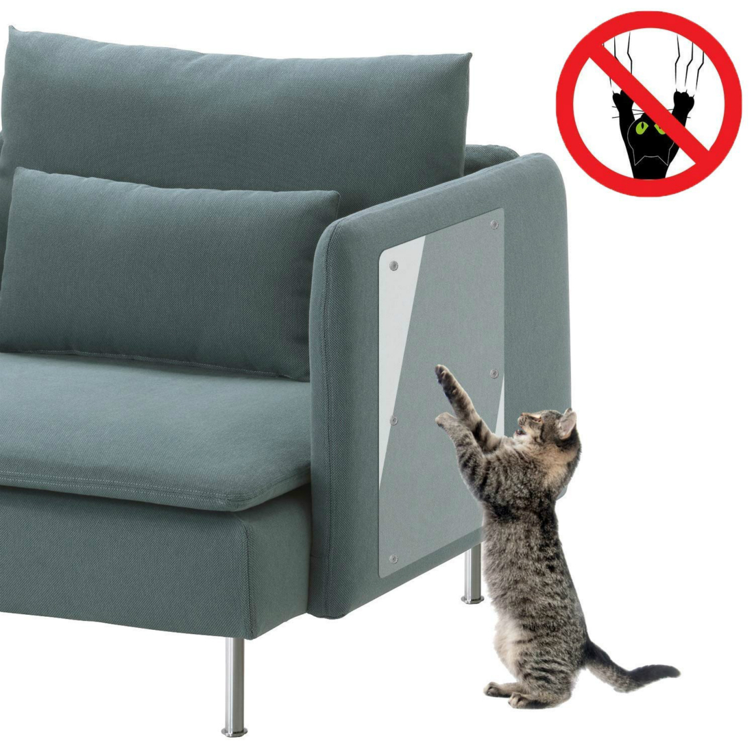 2 styles Cat Scratching Guard Plastic Couch chairs Guard