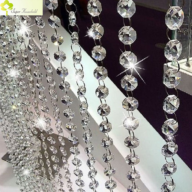 European Decorative Crystal Curtains In The Kitchen Divider Curtain Made Of Beads For Living Room Window Door Passage Backdrop