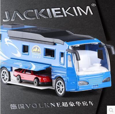 Новая Германия Super Touring Car VOLKNER 1:50 модель автомобиля Автобус детские игрушки мальчик подарок путешествия лагерь Многофункциональный вытяните назад звук свет