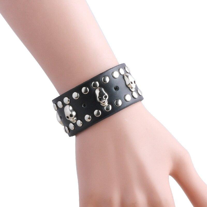 America and Europe pop wild charm pirate skull punk fashion wind cortex bracelet jewelry