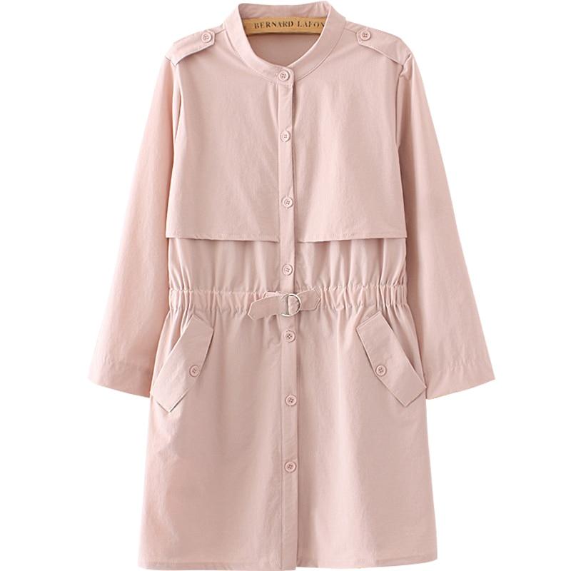 2018 Autumn Women Fashion Korean Fat People Windbreaker Coat