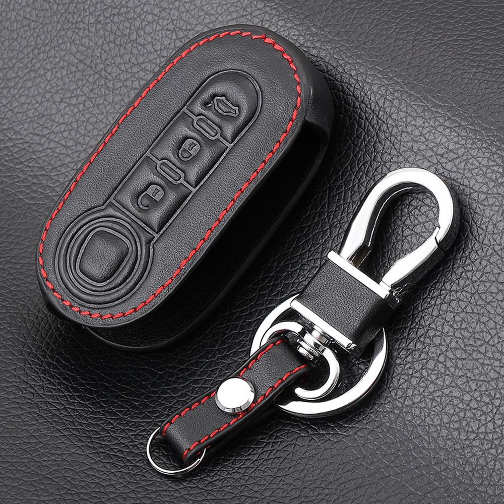 Складной чехол для автомобильного ключа-брелка с 3 кнопками для Fiat 500 Panda Punto Bravo