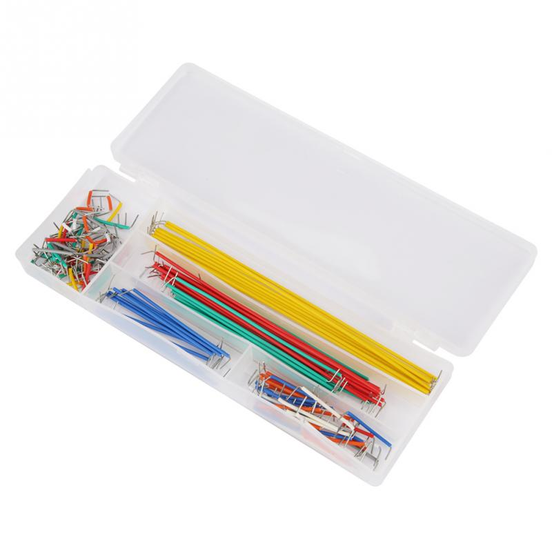 Competent 140pcs U Shape Solderless Breadboard Jumper Cable Wire Black And Red Kit Box For Diy Shield