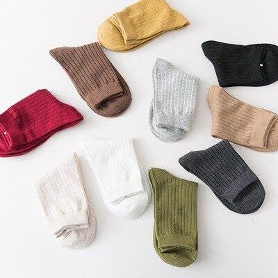 Fashion Colorful Womens Socks Brand Vertical Stripe Wool Socks Women Winter Warm Girl Socks Female
