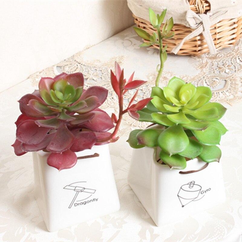(10 pcs/lot) Mini artificial flowers artificial succulents planta lotus fake plastic artificial plants artificial flower factory