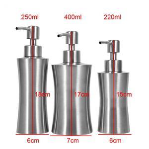 Image 5 - 220/250/400mL Stainless Steel Liquid Soap Dispenser Bathroom Soap Container Pump Lotion Dispenser Bottle Hand Sanitizer Holder