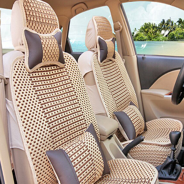 Fancy knitting car seat cover wooden bead car seat cover-in ...