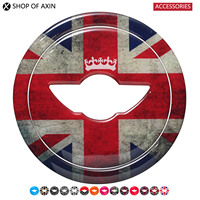 Steering Wheel 3d Stickers Transparent Silicone Decal Graphics For Mini Cooper Clubman Countryman Hardtop R55 R56