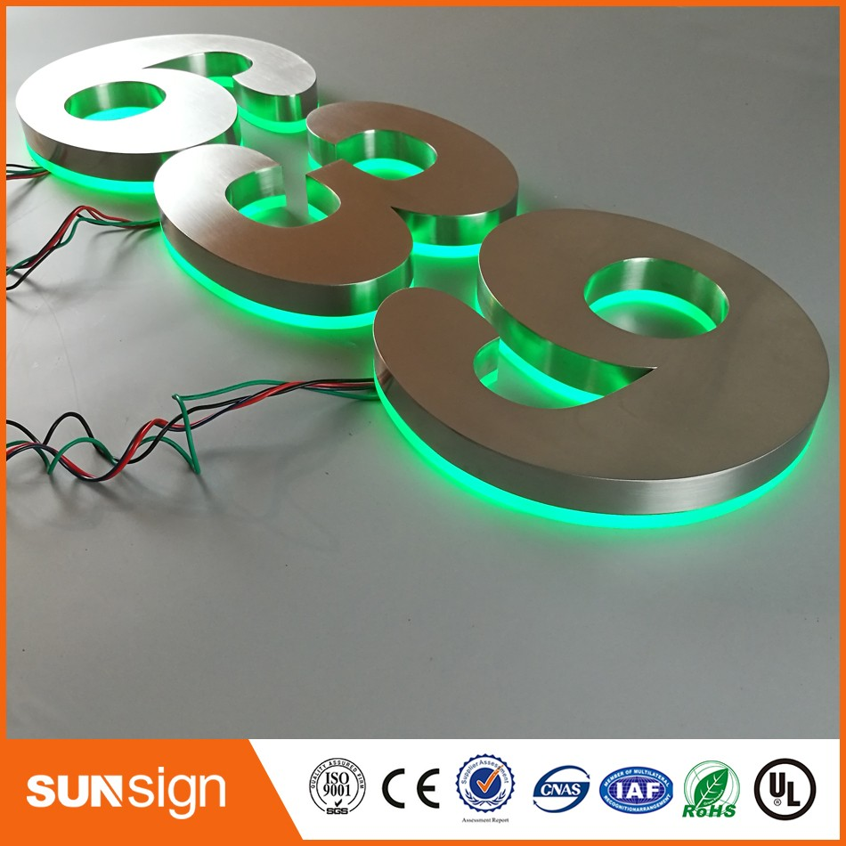 Custom RGB LED Lighted Room Numbers For Hotels