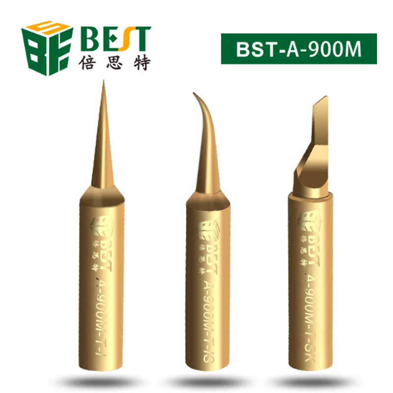 BST-A-900M-T I/ IS/SK Lead Free Fine Soldering Iron Tips High Quality Fly Line Dedicated Pure Copper Precision I IS SK Tips