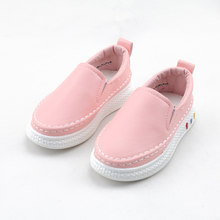JUSTSL 2017 spring new children 's shoes Boys girls sports shoes kids casual shoes solid flat with shoes fashion sneakers(China)