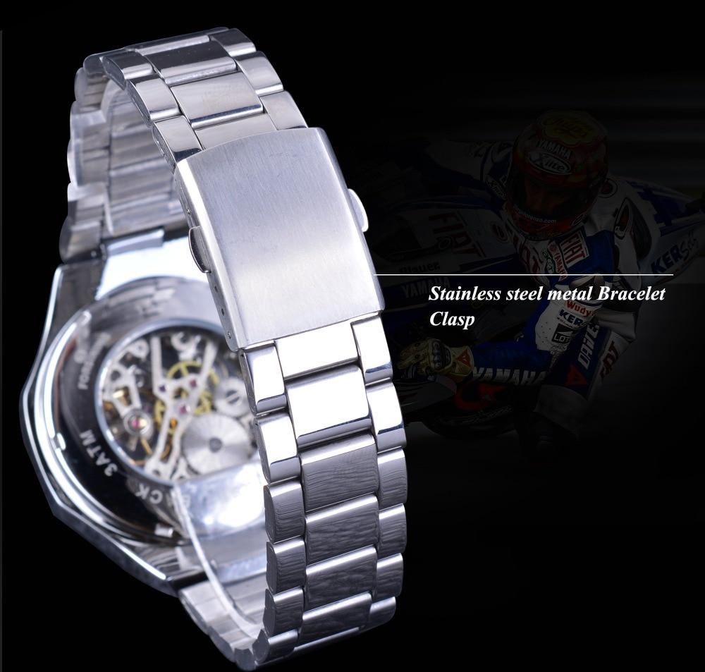 HTB1anuRX8USMeJjy1zdq6yR3FXa7 Forsining Transparent Case Open Work Silver Stainless Steel Mechanical Skeleton Sport Wrist Watch Men Top Brand Luxury Men Clock