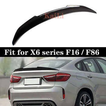 PSM Style Carbon Fiber Auto Car Rear Body Kit Trunk Spoiler Wing for BMW X6 F16 F86 2014-2017 image