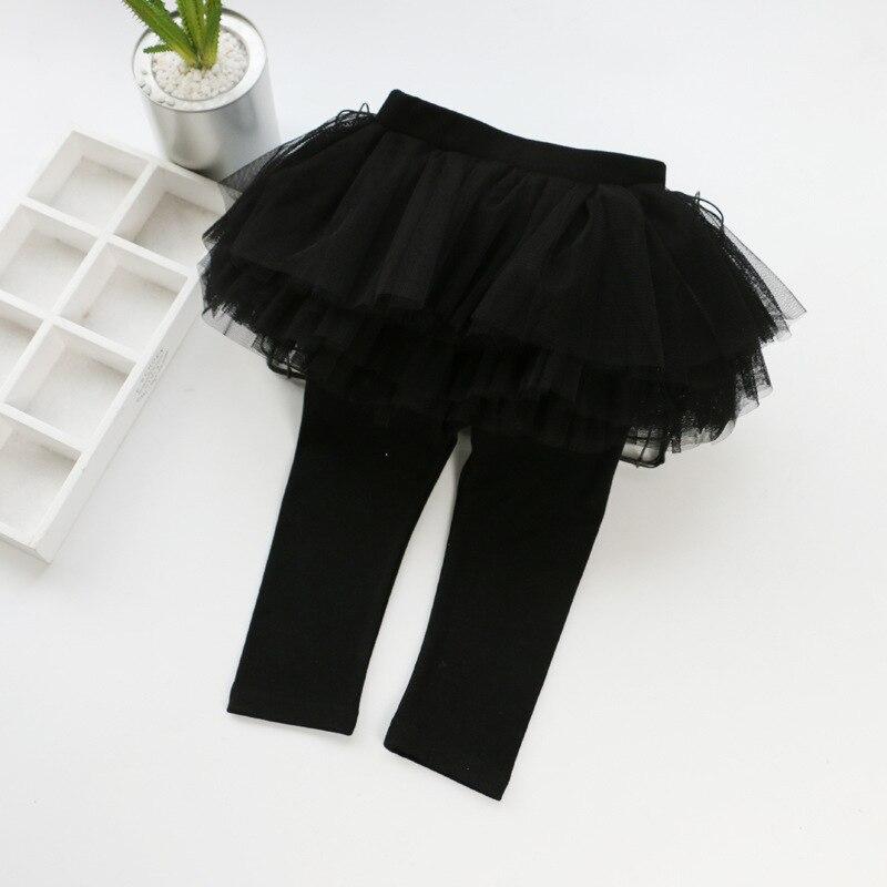Детские леггинсы; леггинсы для девочек; юбка-пачка; брюки; юбка для малышей; леггинсы; детская одежда - Цвет: Черный