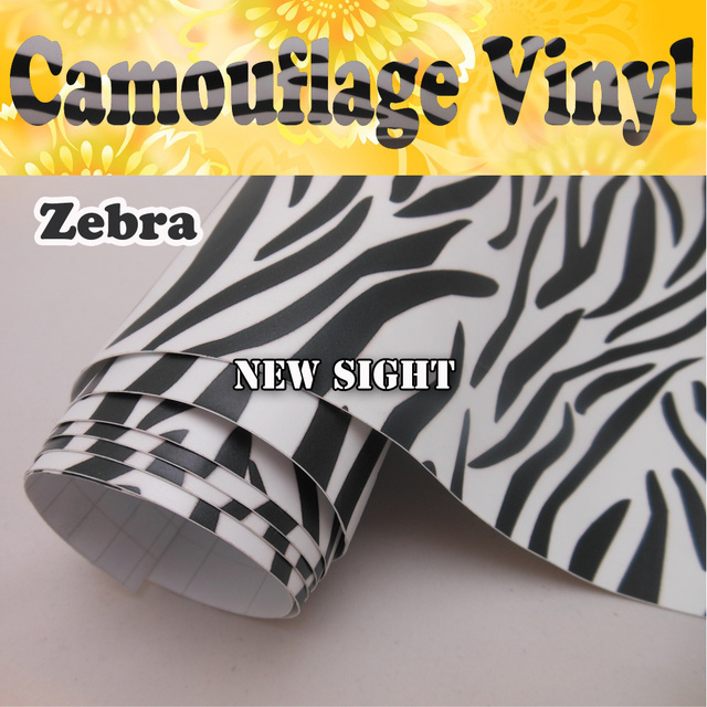 Zebra style camouflage film car vinyl air bubble free for car decals size1 50