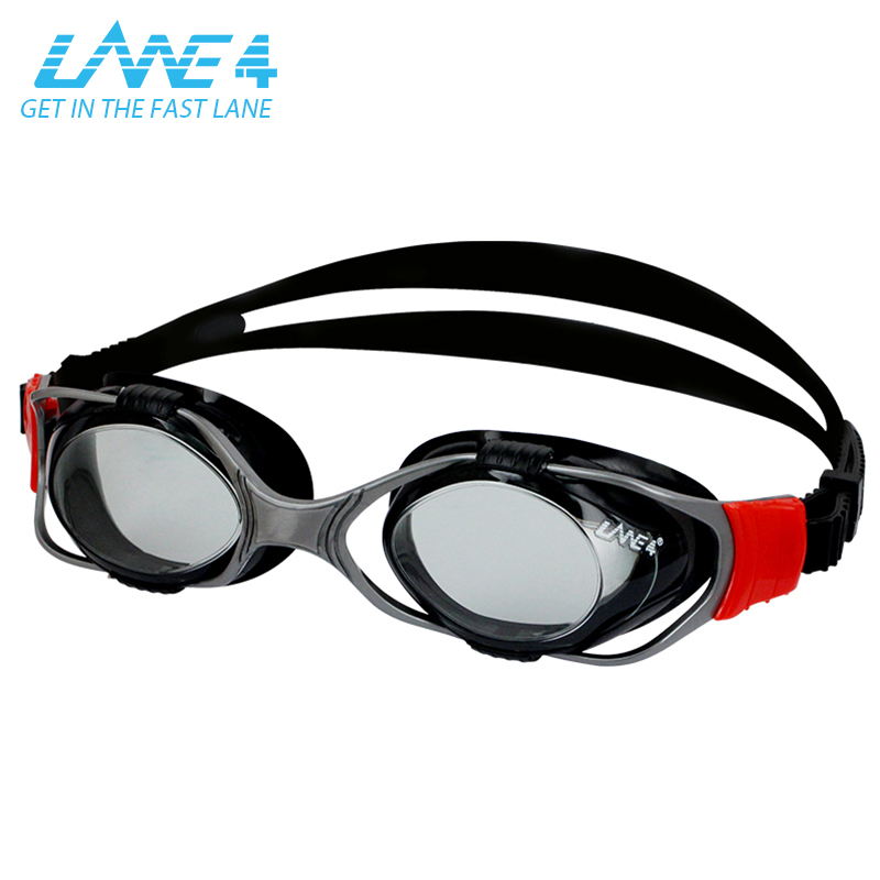 LANE4 móvil lente de prescripción profesional gafas de natación para adultos hom