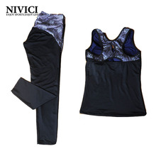 Women Yoga Set Female Sportswear Vest + Pants Fitness Breathable Young Women's Yoga Clothes Pad Suit Outdoor Comfortable Racer
