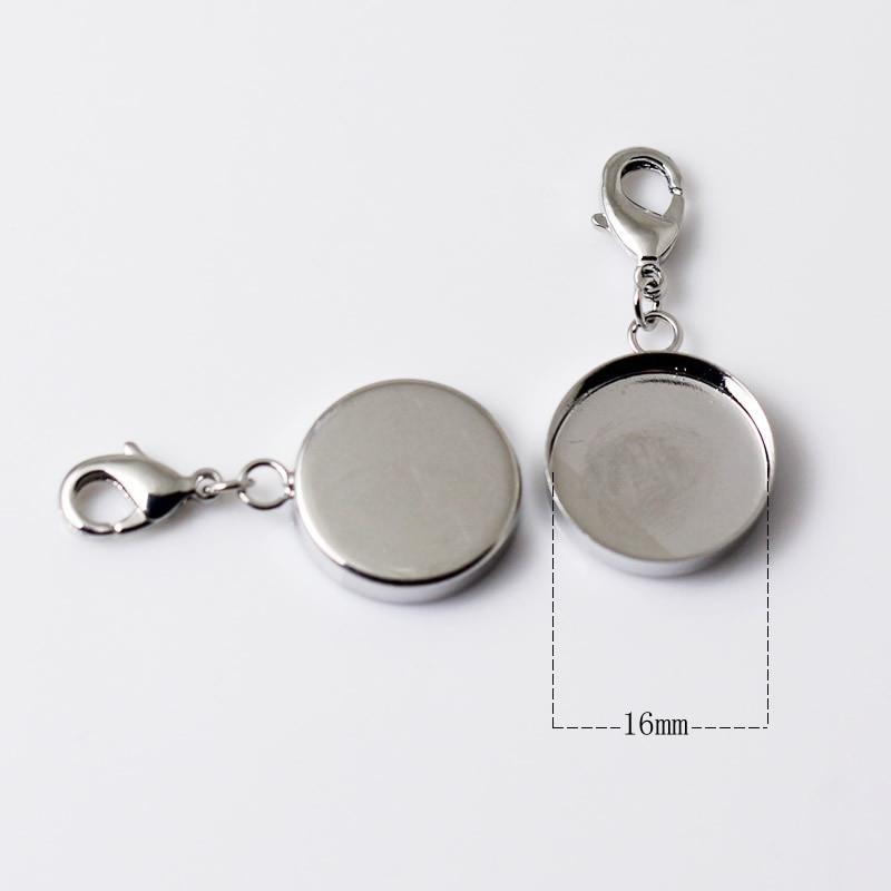 Горячая распродажа! Подвеска пустая/подвеска с раздельными кольцами и застежка-краб/Подкладка внутренний диаметр 16 мм, ID: 12205