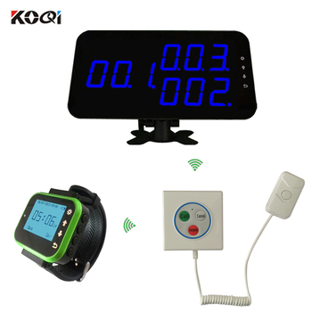 Nurse Call Button For Hotspital Wireless Receiver Portable Wristwatch Pager Transmitter 3-keys Button