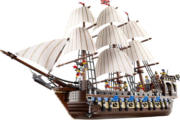 CHINA BRAND bricks toy 79010  Toys for children DIY Building Blocks Compatible with Lego Pirates Imperial Flagship 10210 1717pcs new 22001 pirates of the caribbean imperial flagship diy model building blocks big toys compatible with lego