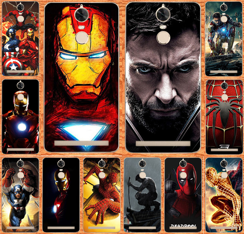 For Fundas Lenovo K5 note Cases Cover Marvel Avengers Captain America Superhero Case For Lenovo Vibe K5 Note Hood Skin Shell