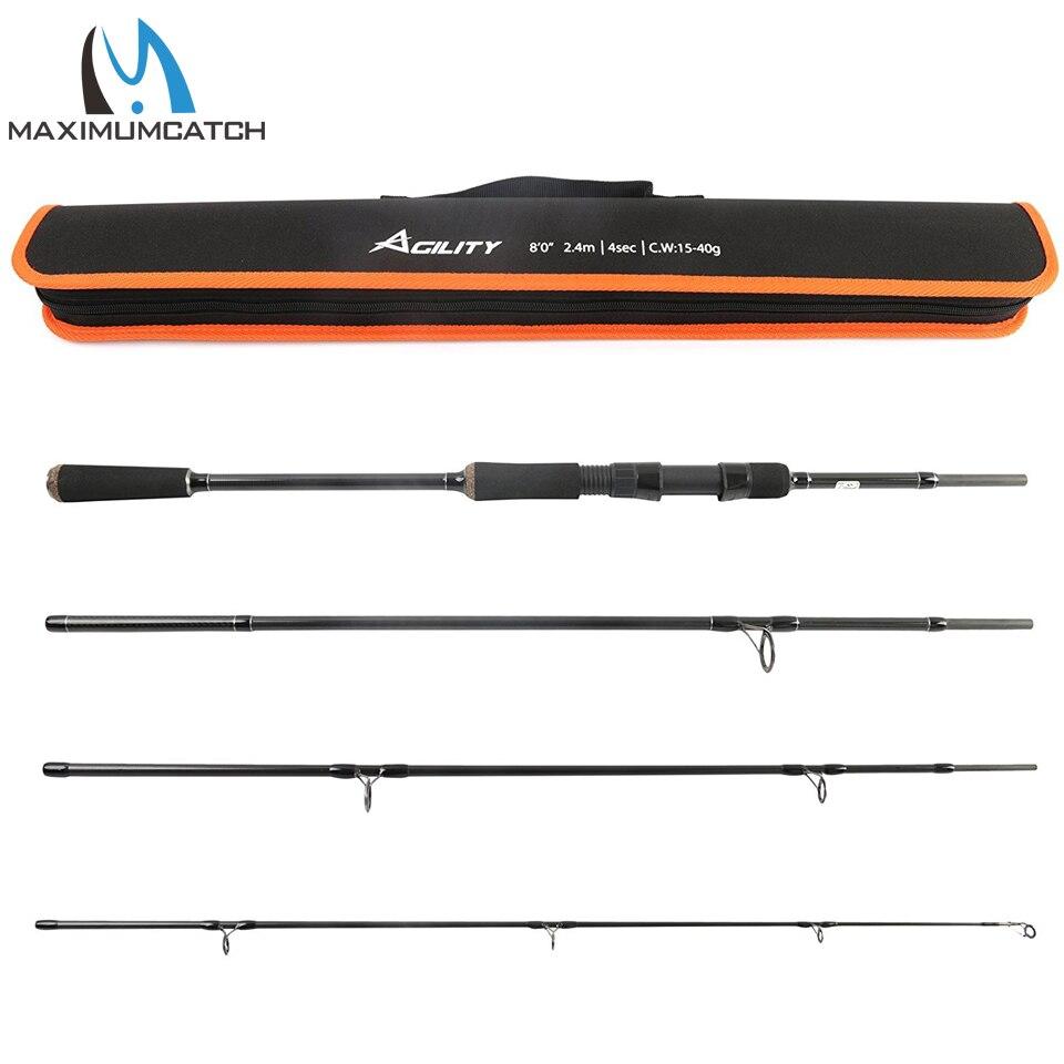 Maximumcatch М 2,4 м вес приманки 15-г 40 г Спиннинг удочка для приманки рыбалка