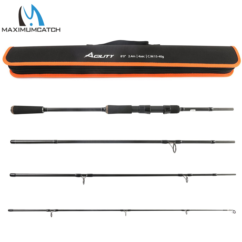 Maximumcatch 2.4M Lure Weight 15-40g Spinning Fishing Rod For Lure Fishing
