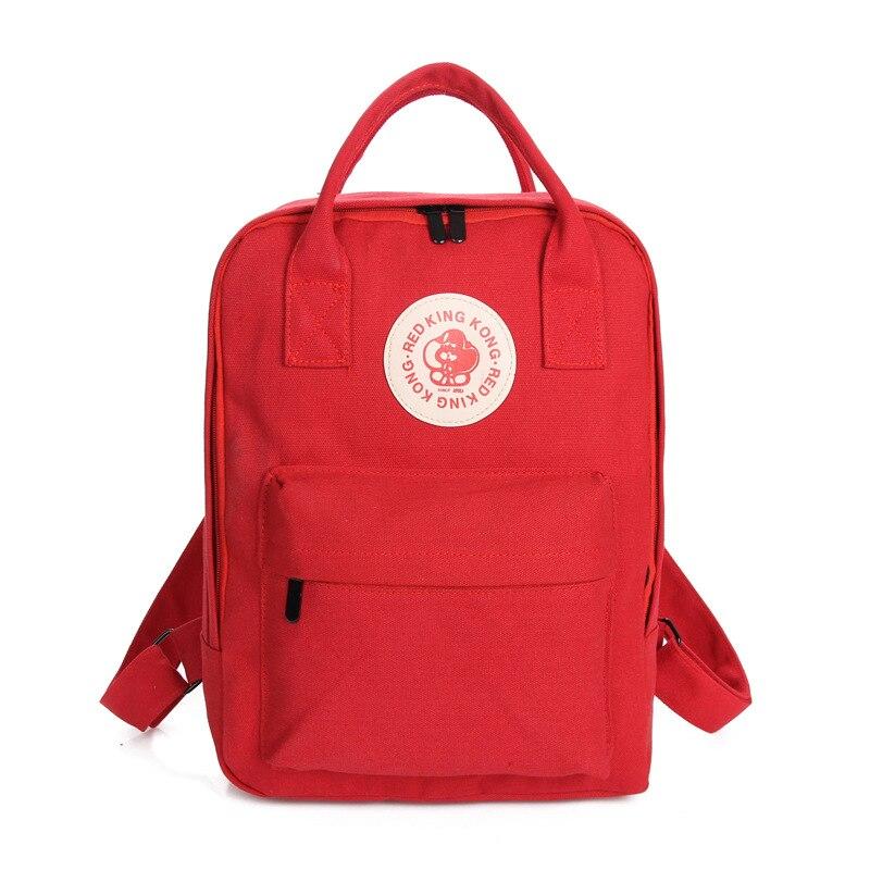 Холст Рюкзаки Многофункциональный Для женщин Рюкзаки Школьные ранцы для Обувь для девочек Студент Книга сумка Школьный красный