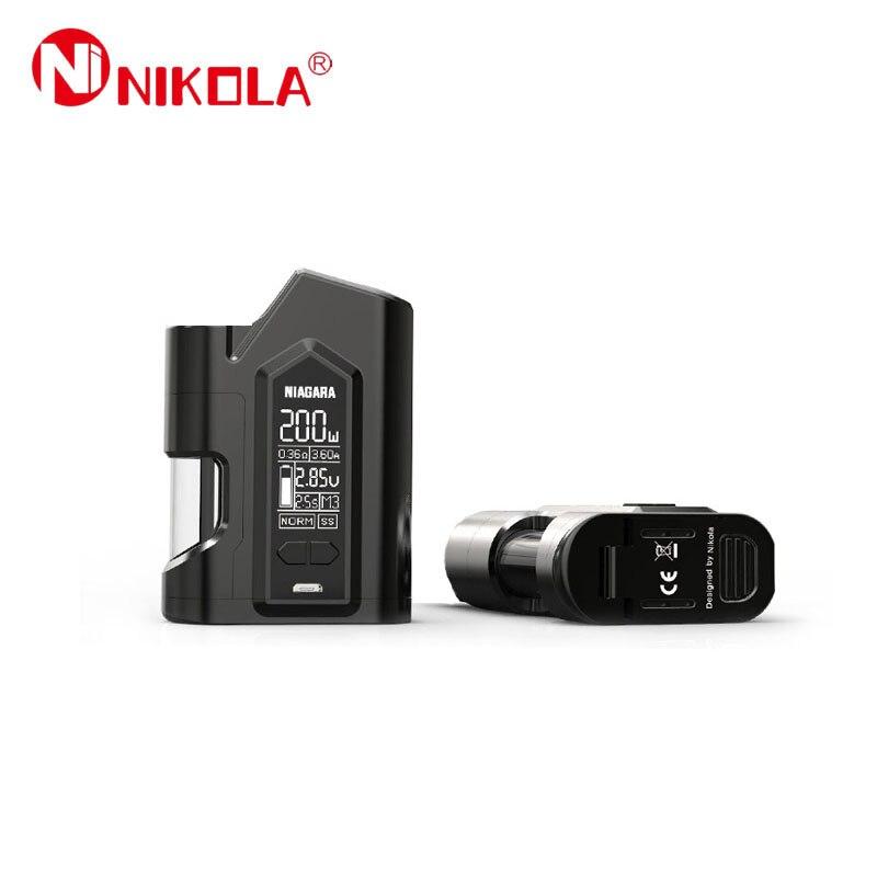 D'origine Nikola Niagara Vaporisateur Mod Cigarettes Électroniques Squonk 200 w Squonker Boîte Mod Double 18650 Batterie Vaporisateur VS Joyetech Mod