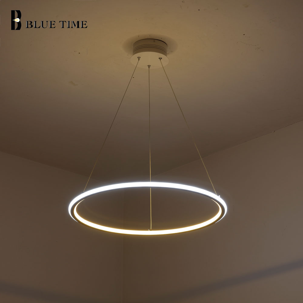 Hanglamp Led Design Us 35 74 45 Off 3 Rings Modern Led Pendant Light Hanglamp Acrylic Led Pendant Lamp For Living Room Dining Room Kitchen Bedroom Lighting Fixtures In