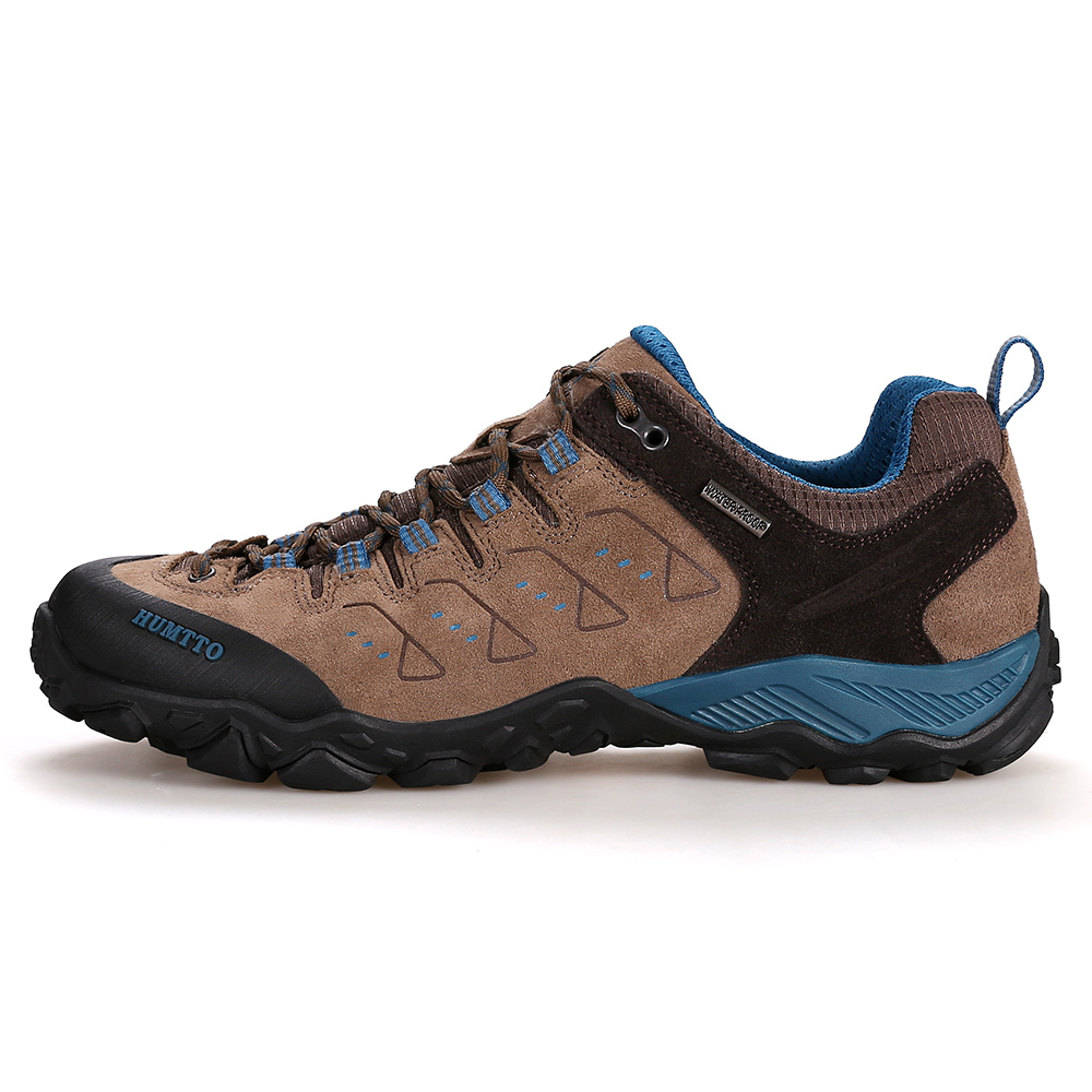 HUMTTO Men's Leather Outdoor Gym Hiking Trekking Shoes Sneakers For Men Sport Climbing Mountain Trail Tourism Shoes Sneaker Man humtto men s summer sports outdoor trekking hiking sandals shoes for men sport climbing mountain shoes man sandals