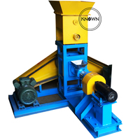 Fit for many kinds of animal feed 100 150 kg/h dog cat birds fish feed pellet extruder meal making machine