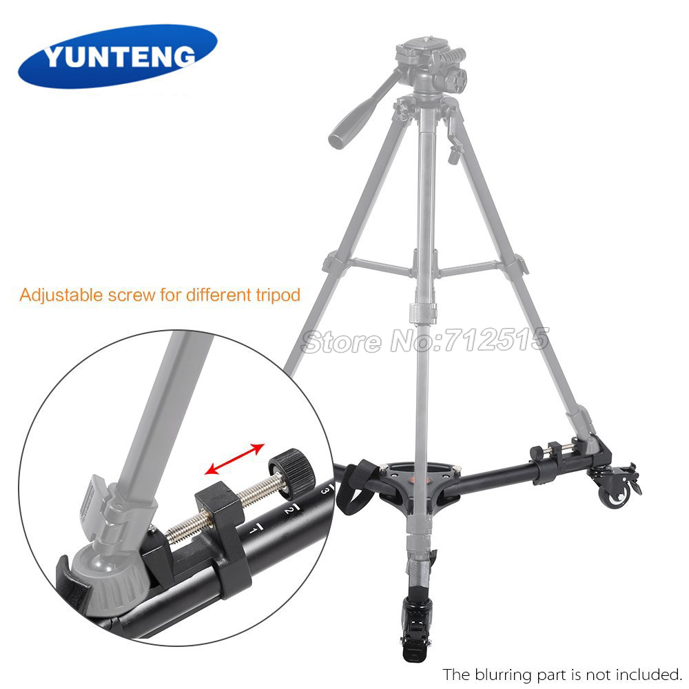 Yunteng Tripod Yt 880 900 Foldable Dolly With Adjustable Legs Max Load 15kg 33lbs For