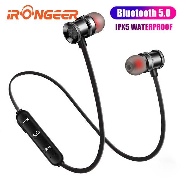Магнитные Bluetooth наушники спортивный нашейный беспроводной наушники 5,0 TWS шумоподавление громкой связи водонепроницаемый