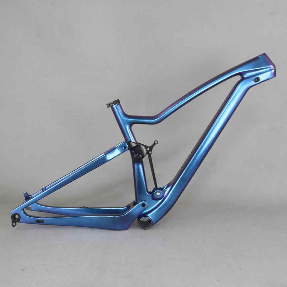 chameleon painting 2019 new all inner cable 27.5er boost full suspension carbon frame for XC Cross Country  mountain bike carbon