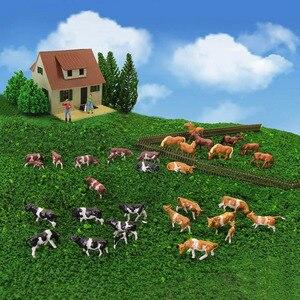 Image 2 - 36 adet 1: 87 minyatür iyi boyalı Model atlar İnekler modeli rakamlar çiftlik manzara manzara düzeni hayvanlar AN8707