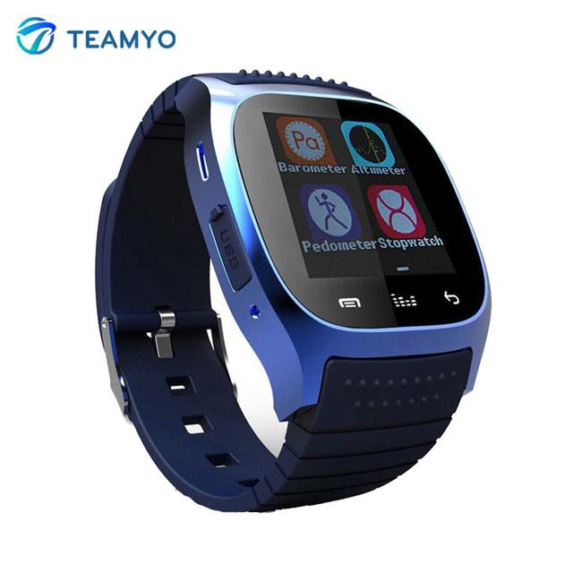M26 smart watch smartwatch androide con sms recuerdan podómetro whatsapp wearable dispositivos para samsung huawei xiaomi