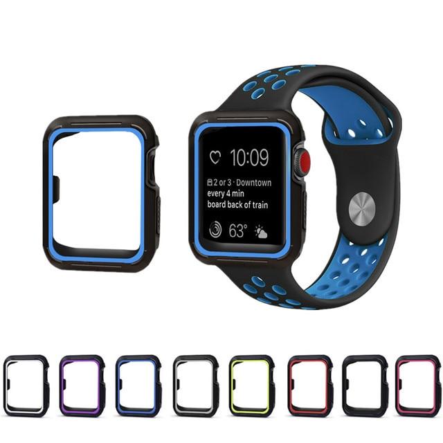 3988abdc73f EIMO Esporte cinta + case para apple watch banda Nike 42mm 38mm silicone  pulseira para iwatch