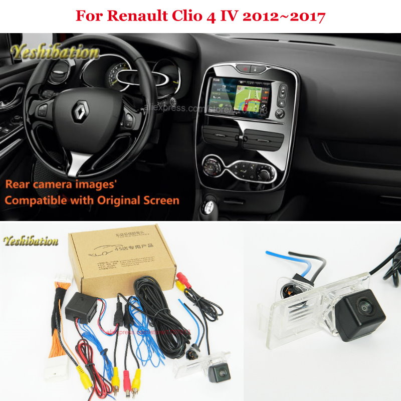 Car Rear View Camera For Renault Clio 4 IV 2012~2017 - Back Up Reverse Camera RCA & Original Screen Compatible l locker renault clio iv hb 12
