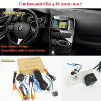 Car Rear View Camera For Renault Clio 4 IV 2012~2017 Back Up Reverse Camera RCA & Original Screen Compatible