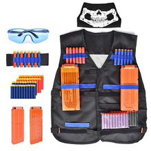 Children Kids Tactical Nerf Vest Outdoor Game Tactic Vest Holder Kit Guns Toy for N-Strike Elite Bullets Kamizelka Taktyczna new tactical vest kit safety vests adjustable with storage closing pockets fit for nerf n strike elite team games hunting vest