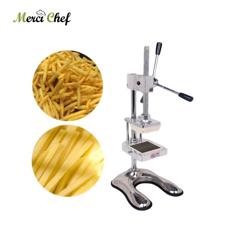 Manuale frutta mela Affettatrice di Verdure Cucina Commerciale potato chip macchina della pressa Francese Fry Cutter con 3 lame
