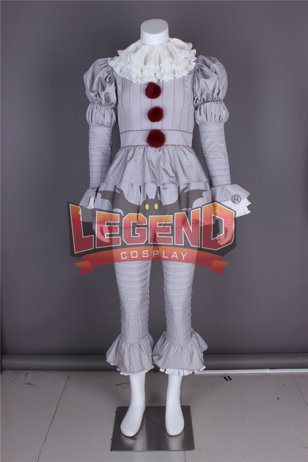 Stephen King's It Pennywise Cosplay Costume Scary Joker cosplay Suit outfit custom made size