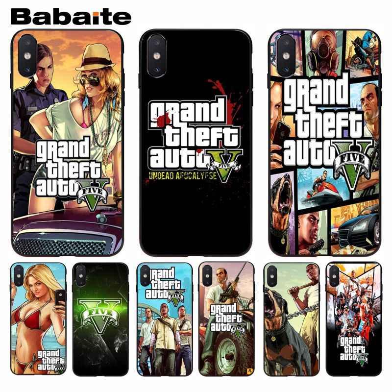 Babaite gta 5 แกรนด์ขโมยอัตโนมัติ Luxury High - end Protector โทรศัพท์กรณีสำหรับ iphone 5 5s 5c SE 6 6 s 7 7 plus 8 8 plus