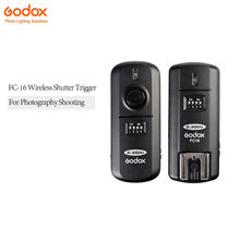 FC-16 Godox Estúdio de Flash Dispara 2.4 GHz 16 Canais Controle Remoto Sem Fio para Canon EOS Camera