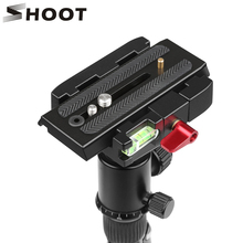 SHOOT Aluminum Alloy Quick Shoe Plate for Manfrotto 501HDV 503HDV DSLR Camera Camcorder Tripod Monopod with 1/4 3/8 inches Screw